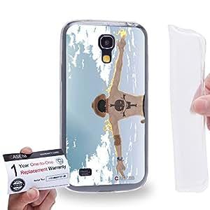 Case88 [Samsung Galaxy S4 Mini] Gel TPU Carcasa/Funda & Tarjeta de garantía - One Piece Portgas D. Ace 0502