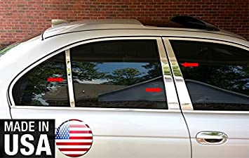 Made in USA Works with 1997-2003 BMW 5 Series E39 525//528//530//540 Stainless Steel Chrome Pillar Post Trim 6PC
