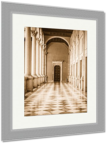 Ashley Framed Prints Toledo Famous City In Spain, Wall Art Home Decoration, Sepia, 30x26 (frame size), Silver Frame, AG6114349 by Ashley Framed Prints