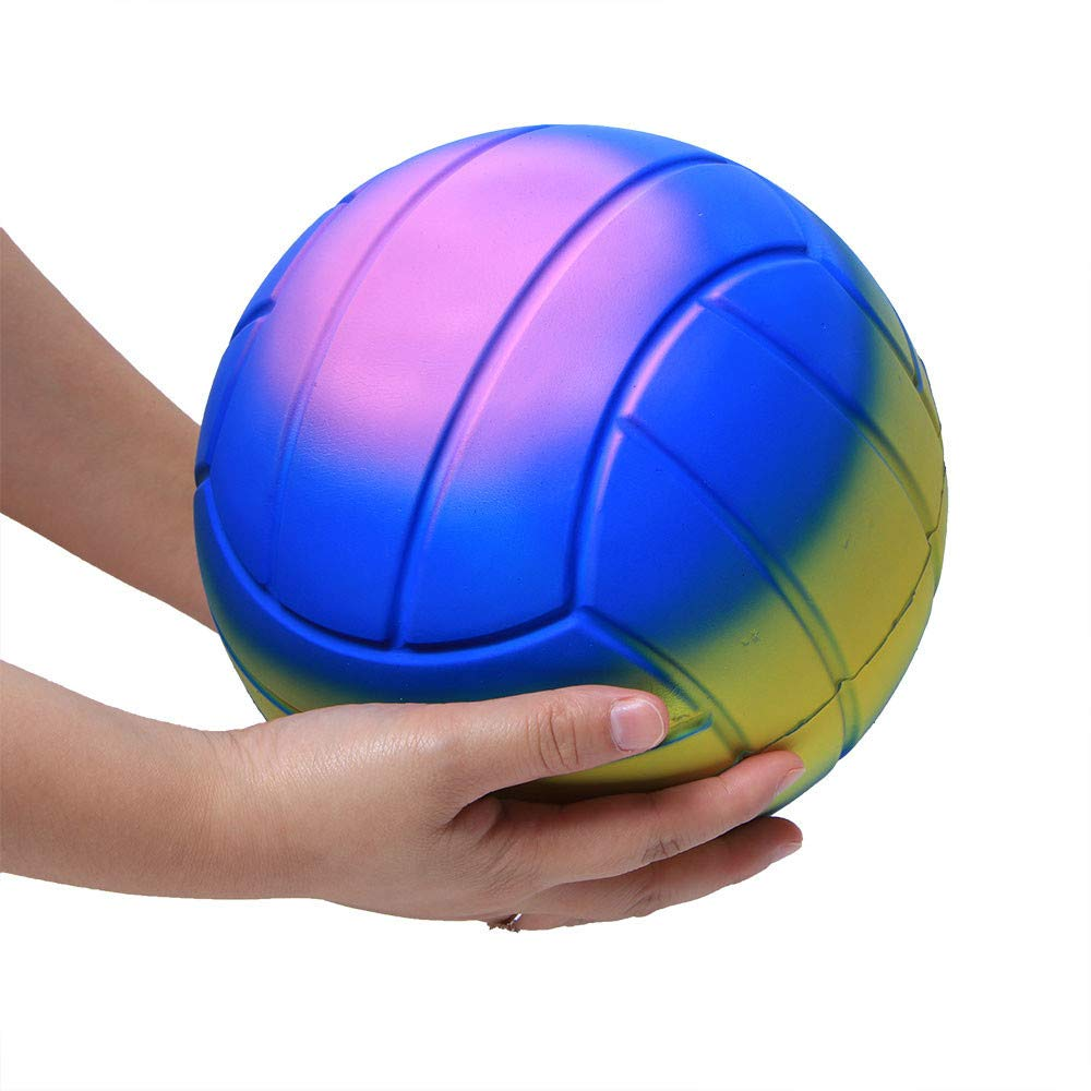 Dkings Jumbo Super Giant Soft Volleyball Slow Rising Squeeze Relieve Stress Toy (A)