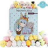POKONBOY 30 PCS Mochi Squishy Toys - Mini Squishies Slow Rising Panda Squishy Animals Stress Relief Animal Toys Birthday Party Favors