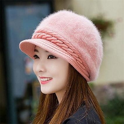 3438892a5817bc Amazon.com: Gold Happy Mink and Fox fur ball cap winter hat women ...
