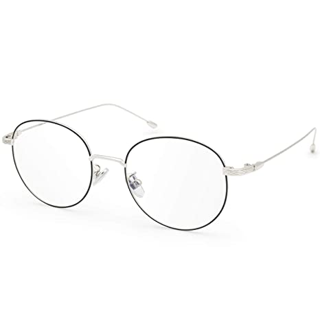 b4d762148ede6 Image Unavailable. Image not available for. Color  Livho Blue Light  Blocking Glasses Filter UV Glare Retro Round Ultra Lightweight Computer ...