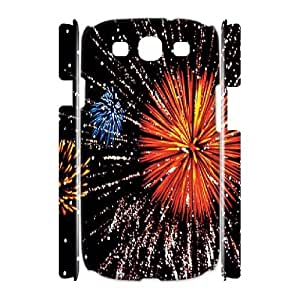 Brilliant fireworks Wholesale DIY 3D Cell Phone Case Cover for Samsung Galaxy S3 I9300, Brilliant fireworks Galaxy S3 I9300 3D Phone Case