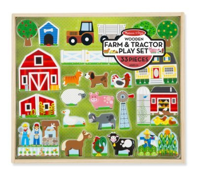(STEMtoys Wooden Farm & Tractor Play Set)