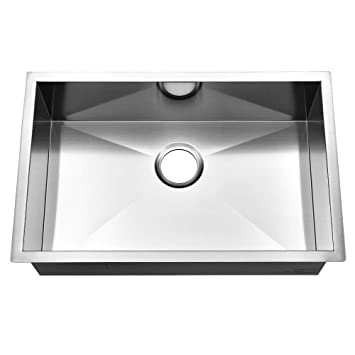 Ufaucet Commercial 28 Inch 16 Gauge Undermount Single Bowl Stainless