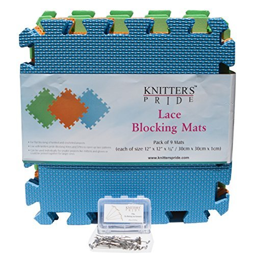Knitters Pride Lace Blocking Mats & T-Pins Bonus Bundle
