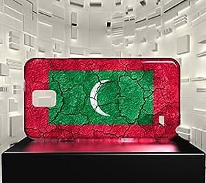 Funda Carcasa para Galaxy Note 4 Bandera LAS MALDIVAS 03