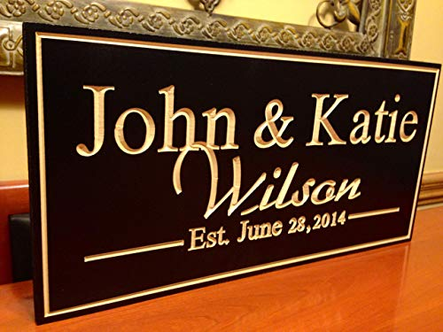 wooden sign engraving