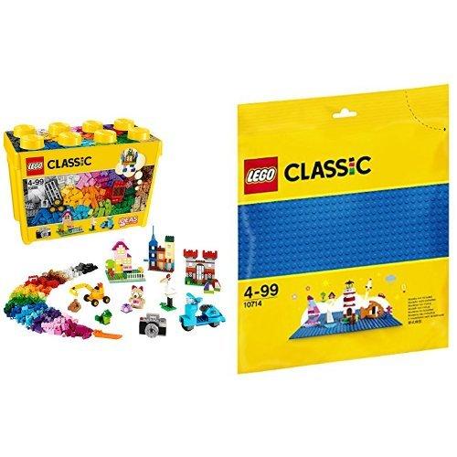 [해외] 레고 (LEGO) 클래식 라지 조립 박스 스페셜 10698 & 클래식 기초 판(블루) 10714