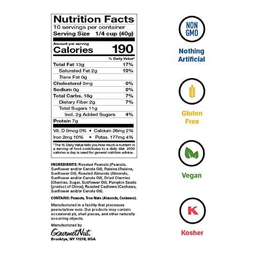 Power Up Trail Mix, Protein Packed Trail Mix, Non-GMO, Vegan, Gluten Free, Keto-Friendly, Paleo-Friendly, No Artificial Ingredients, Gourmet Nut, 14 oz Bag 2