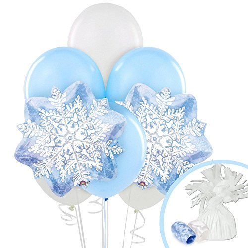 Snowflake Winter Wonderland Christmas Party Supplies - Balloon (Christmas Winter Wonderland)