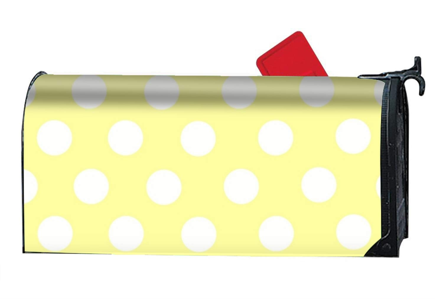 BABBY Polka Dot Pattern Custom Mailbox Covers Magnetic Mailbox Wrap 9'''' x 21''''