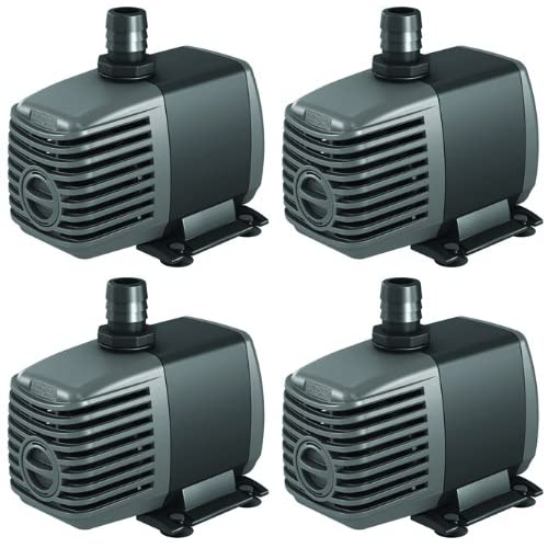 (4) HYDROFARM Active Aqua 400 GPH Submersible Hydroponics Aquarium Water Pumps