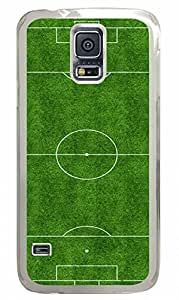 Transparent Fashion Case for Samsung Galaxy S5 Generation Plastic Case Cover for Samsung Galaxy S5 with Football Field