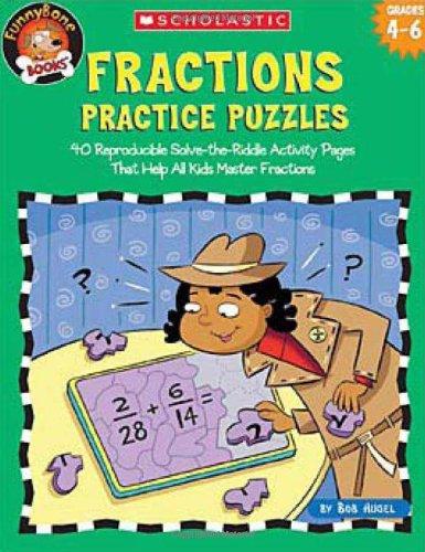 Funnybone Books: Fractions Practice Puzzles (Grades 4-6)