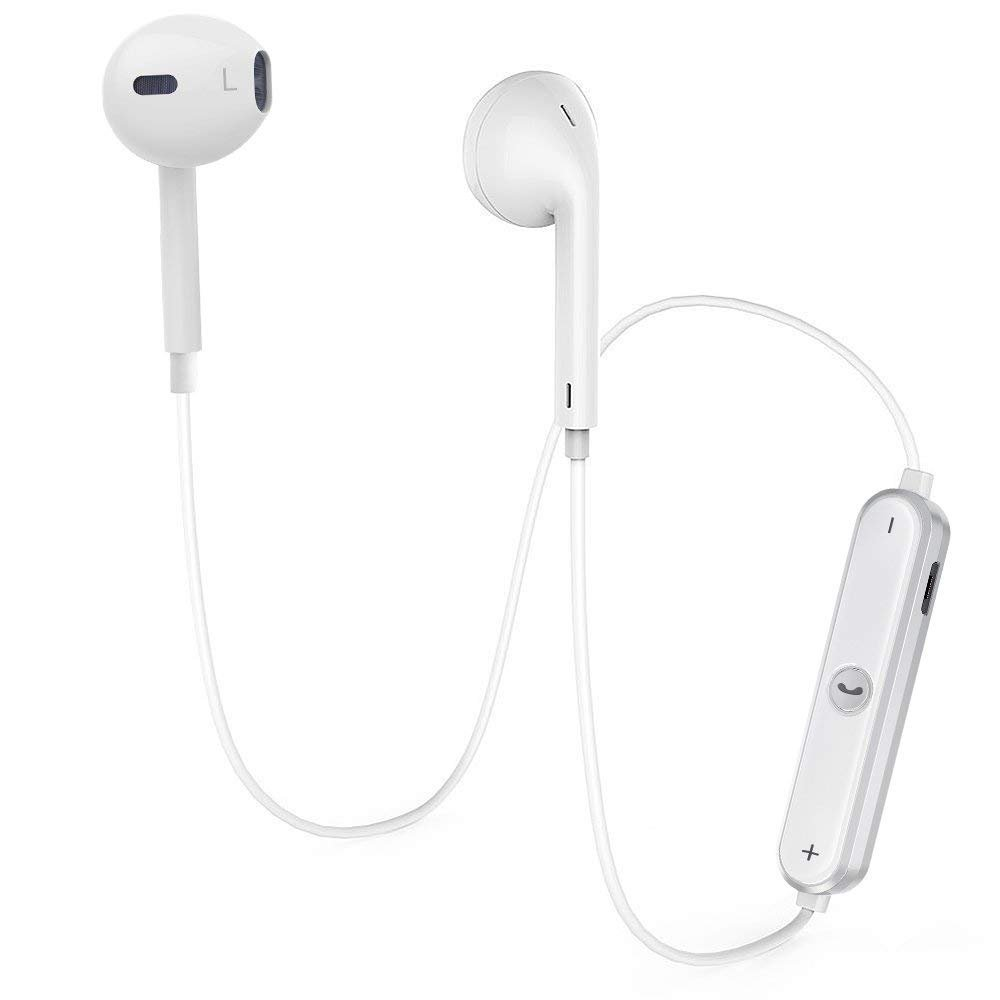 Bluetooth Headphones, Wireless Earbuds Stereo hands-free calling Earphones Sport Driving Headsets - White03
