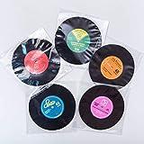 Vintage Vinyl Record Beverage Coaster Set of 5 (Silicone)