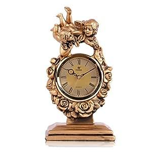 CLG-FLY Creative escritorios de oficina salón tecnología relojes antiguos reloj,ARC-oro,17 pulg.: Amazon.es: Hogar