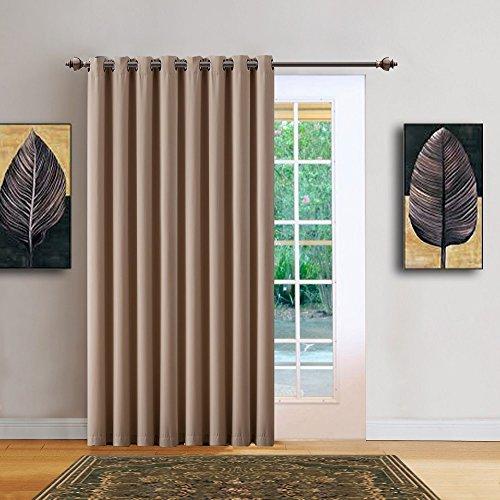 Cheap  Warm Home Designs 1 Panel of Taupe (Dark Beige) Blackout Patio Door..