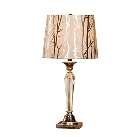 HZC Medieval Tradicional Lámpara de Mesa Vintage E27 Cristal Retro ...