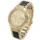 GESTORE Sale Women Round Bracelet Watch Ladies Gold Silver Designer Style Crystal Watches