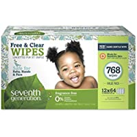 768-Count Seventh Generation Thick & Strong Baby Wipes