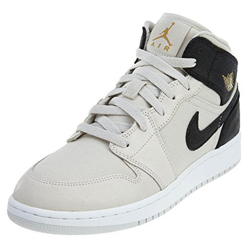 Price comparison product image NIKE Air Jordan 1 Mid (GS) Girls Fashion-Sneakers 554725-412_6.5Y - Obsidian/Game Royal-Summit White