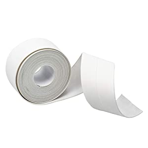 Caulk Tape,Self Adhesive Sealing Caulk Strip Waterproof Repair Strip for Bathtub Kitchen Sink Basin Edge Shower Toilet and Wall Mildew Sealing Tape(1.5Inch Width x 10.5Feet Length)