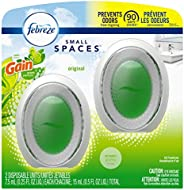 Febreze Small Spaces Air Freshener, Odor Eliminator, Gain Original, 2 Count