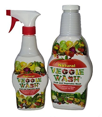 (Veggie Wash All Natural Fruit and Vegetable Wash Sprayer and Refill Combo Pack )