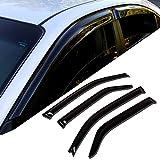 TuningPros WD-112i Tinted Smoke In-Channel Window Visor Deflector Rain Guard 2-pc Set