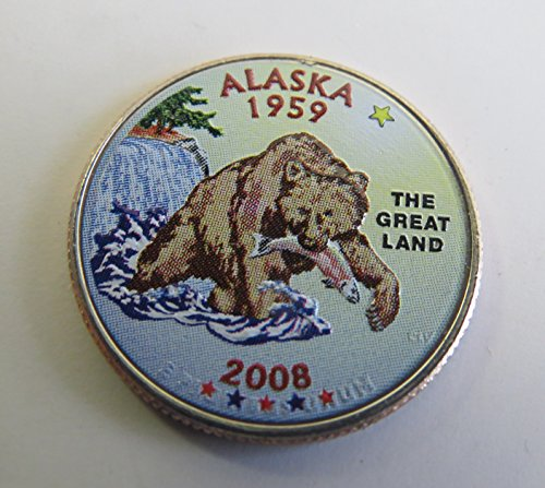 Alaska State Coin - 2008 Various Mint Marks Alaska State Colorized Quarter Choice Uncirculated