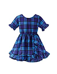 WOCACHI Baby Kid Girls Ruffles Ruched Dot Skirt Princess Dresses Casual Clothes