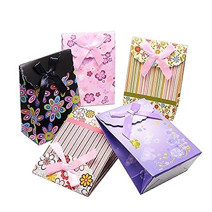 PandaHall Juego de 60 bolsas de papel para regalos de bodas, diseño con