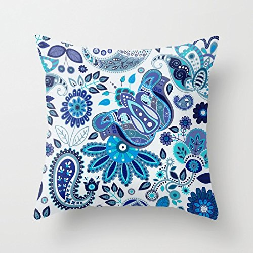 Decorative Square Cushion Paisley Pattern