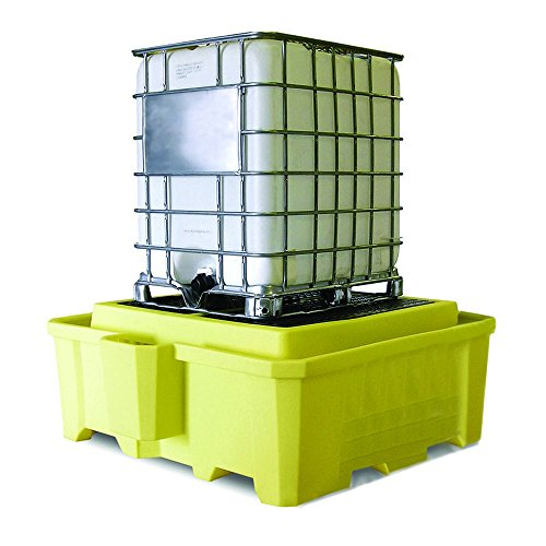 Enpac 5469-YE Polyethylene Integrated IBC 2000i Spill Containment, 385 Gallons Spill Capacity, 73