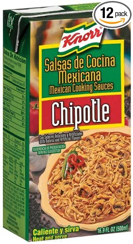 Knorr Mexican Cooking Sauces, Chipotle, 16.9-Ounce Cartons (Pack of 12)