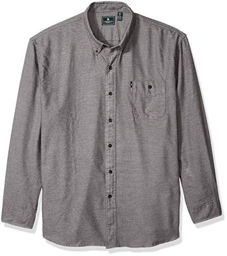 G.H. Bass & Co. Men's Jaspe Flannel Long Sleeve Shirt, Castlerock, Small