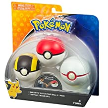 TOMY T18810D Pokemon Throw 'N' Catch Poké Ball 3 Pack
