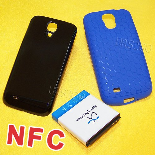 Extended Battery Door Cover - NFC 7980mAh Extended Battery Door Cover Case for Samsung Galaxy S4 I9500 SCH-R970C Phone - FAST SHIPPING