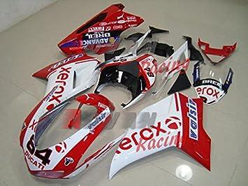 Moto OnFire ABS Inyección Molde plástico Kit embellecedores para Ducati 1098 848 1198 2007 - 2008: Amazon.es: Coche y moto