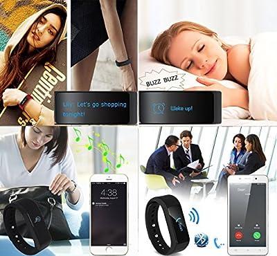 LUCOG Fitness Tracker Smart Bracelet Wristband - I5 Plus Activity Tracker Wellness Smart Watch Health Sleep Monitor w/ Step & Calorie Counter Morning Waking Up Vibration Alarm