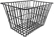 CLISPEED Metal Wire Bike Basket Rear Bicycle Basket Delivery Basket for Kids Adults Bike (Black)