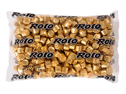 ROLO Holiday Chocolate Caramel Candy, 4.1 Pounds Bulk Candy Gift -