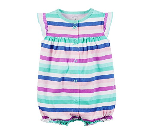 Carter's Baby Girls' Striped Butterfly Creeper 12 - Pattern Applique Butterfly Free