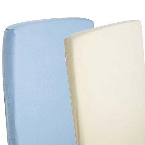 Sábana bajera ajustable compatible con cuna Chicco Next 2 Me, 100 % algodón, color