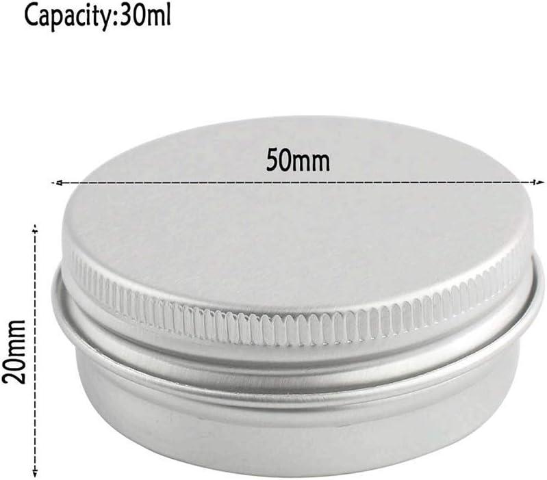 Poualss 40 Piezas Latas de Aluminio Envases de Esta/ño Botella con Tapa de Rosca para Especias de Tienda Caramelos P/íldoras de t/é Manualidades 30 ml