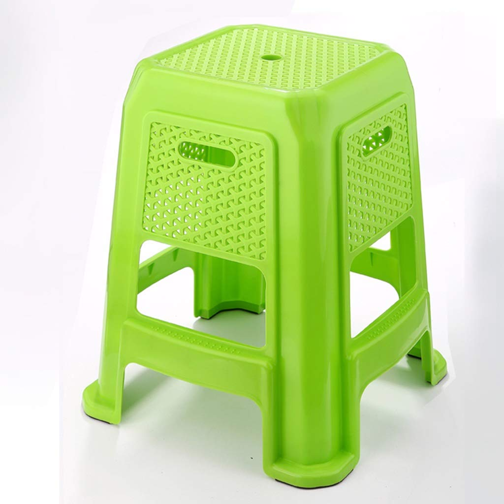 Green Restaurant Stool, Load Bearing Non-Slip Plastic Breathable High Stool Computer Desk Book Table Chair Kitchen Dining Table Bench (color   Green)