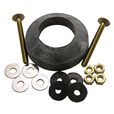 LASCO 04-3807 Toilet Tank to Bowl Bolt Kit with Brass Bolts, Rubber and Brass Washers, Hex and Wing Nuts, W-210 Recessed TXB Gasket